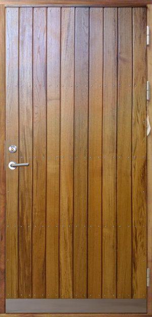 inngangsdør i teak