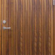 Ytterdører | Resö stående Teak | Bovalls Dörrbyggeri